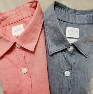 Pair of J Crew Factory Perfect Fit Shirt Butto…